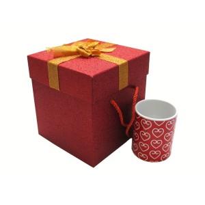 جعبه کادویی اکلیلی قرمز (سایز متوسط)