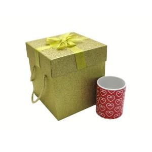 جعبه کادویی اکلیلی طلایی (سایز متوسط)
