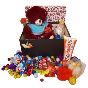 پک هدیه شکلات و عروسک کد H120