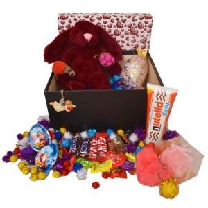 پک هدیه شکلات و عروسک کد H121