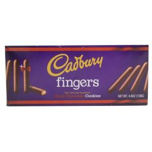 استیک با روکش شکلات تلخ کدبری فینگرز