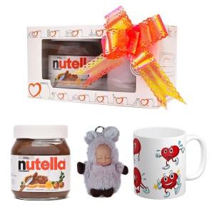 پک هدیه ماگ و عروسک و نوتلا کد Gift004