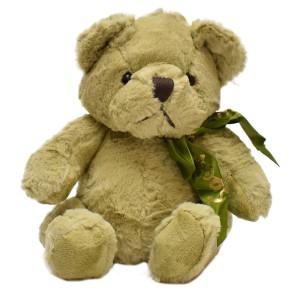 عروسک خرس پاپیون دار سبز
