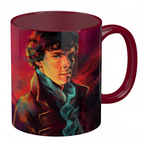 ماگ تو رنگی طرح شرلوک هلمز
