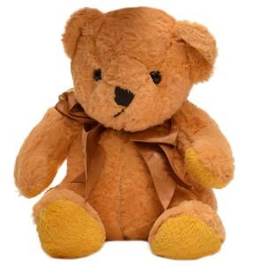 عروسک خرس پاپیون دار زرد خردلی