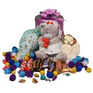 پک هدیه شکلات و عروسک کد H111