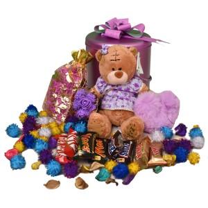 پک هدیه شکلات و عروسک کد H112