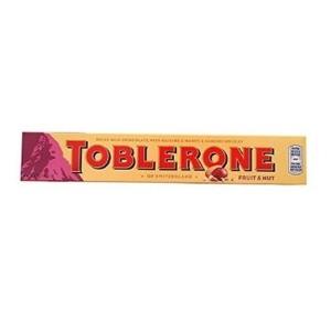 toblerone fruit & nut chocolate