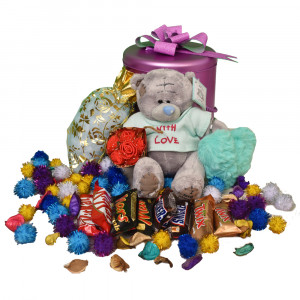 پک هدیه شکلات و عروسک کد H114