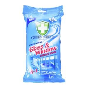 دستمال مرطوب مخصوص شیشه و پنجره گرین شیلد