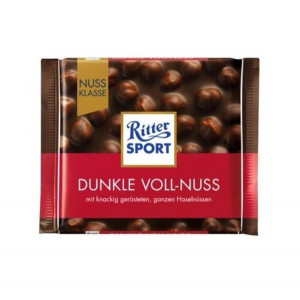 ritter sport dark whole hazelnuts