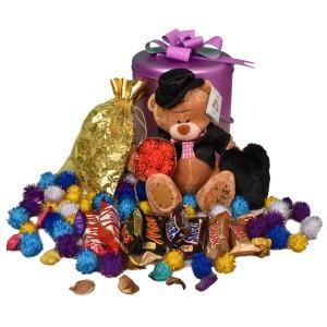 پک هدیه شکلات و عروسک کد H116