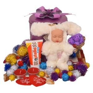 پک هدیه شکلات و عروسک کد H117