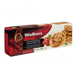 Walkers White Chocolate and Strawberry Biscuits