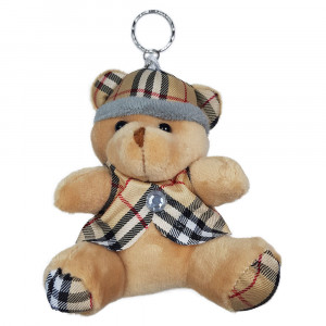 عروسک خرس کلاه دار کرم
