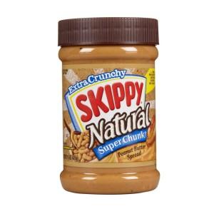 skippy natural super chunk peanut butter