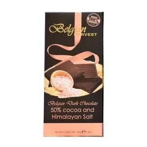 تابلت شکلات تلخ 50% و نمک هیمالیا بلژین هاروست