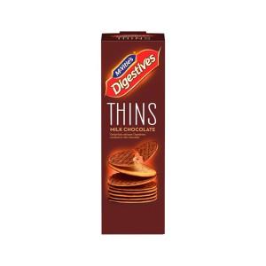 بیسکوئیت دایجستیو Thins با روکش شکلات شیری