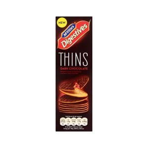 بیسکوئیت دایجستیو Thins با روکش شکلات تلخ