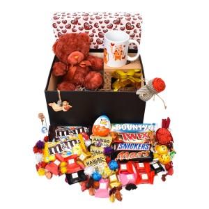 پک هدیه شکلات و عروسک سایز 2 کدH033