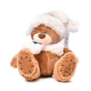 عروسک تاپ تویز مدل خرس کلاه و شال گردن دار