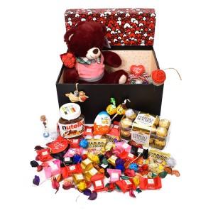 پک هدیه شکلات و عروسک سایز 1 کد H035