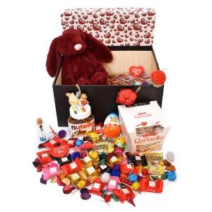 پک هدیه شکلات و عروسک سایز 1 کد H037