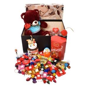 پک هدیه شکلات و عروسک سایز 1 کد H040