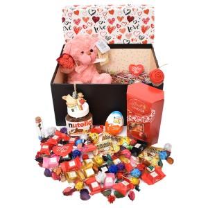 پک هدیه شکلات و عروسک سایز 1 کد H041
