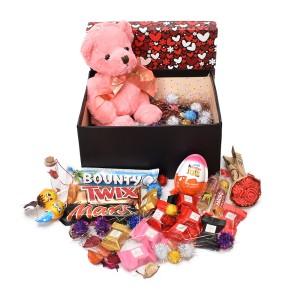 پک هدیه شکلات و عروسک سایز 5 کد H046