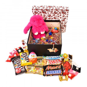 پک هدیه شکلات و عروسک سایز 4 کد H015