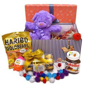 پک هدیه شکلات و عروسک سایز 2 کد H051