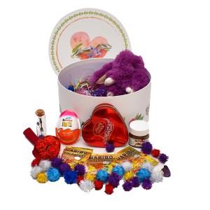 پک هدیه شکلات و عروسک سایز 3 کد H055