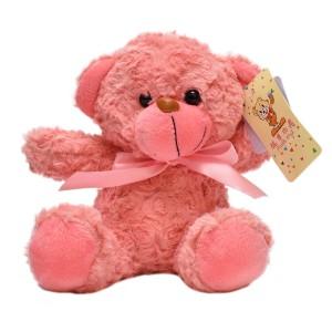 عروسک تاپ تویز مدل خرس پاپیون دار صورتی