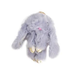 عروسک خرگوش مدل لاکچری طوسی
