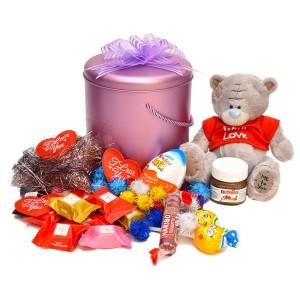 پک هدیه شکلات و عروسک کد H006