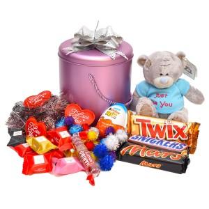 پک هدیه شکلات و عروسک کد H008