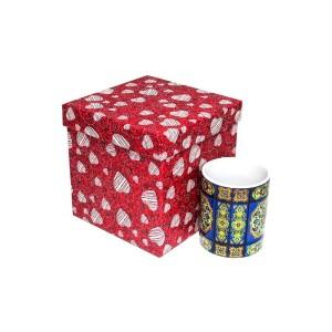 جعبه کادویی طرح قلبی قرمز (سایز 4)
