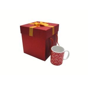 جعبه کادویی اکلیلی قرمز (سایز کوچک)