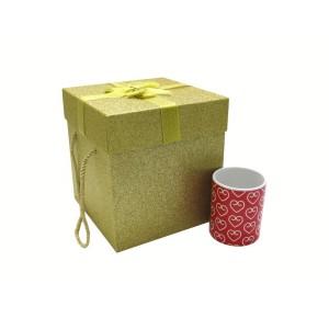 جعبه کادویی اکلیلی طلایی (سایز کوچک)