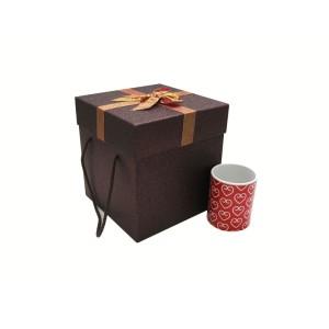جعبه کادویی اکلیلی قهوه ای (سایز کوچک)