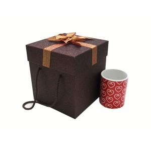 جعبه کادویی اکلیلی قهوه ای (سایز متوسط)