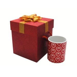 جعبه کادویی اکلیلی قرمز (سایز بزرگ)