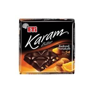 تابلت شکلات تلخ با مغز بادام و پرتقال اتی