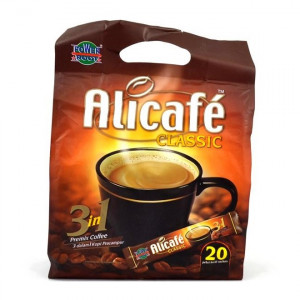 قهوه فوری جینسینگ دار کلاسیک 3 در 1 علی کافه