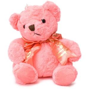 عروسک خرس پاپیون دار صورتی