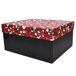جعبه کادویی طرح قلب قرمز سایز 1