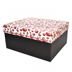 جعبه کادویی طرح قلب کریستالی سایز 2