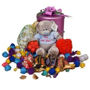 پک هدیه شکلات و عروسک کد H113