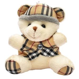 عروسک خرس کلاه دار سفید